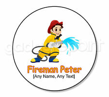Personalised Gift Hero Fire Fighter Fireman Drinks Coaster Kids Present Round