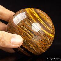 525g 70mm Large Natural Tiger Iron Eye Stone Quartz Crystal Sphere Healing Ball