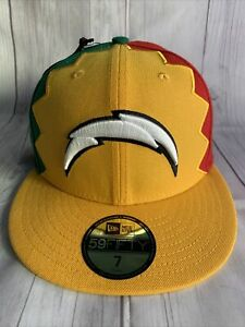 """NEW ERA 59FIFTY FITTED CAP  7"""" NFL SAN DIEGO CHARGERS 2019 DRAFT CITY FLAG"""