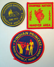 Indian Princess YMCA Father Daughter Shawnee Nation Vintage Round Sew Patch LOT