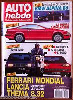 AUTO HEBDO 604 du 16/12/1987; Interview John Judd/ Essai BMW Alpina B6/ Thema 8.