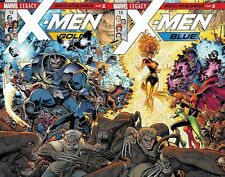 X-MEN BLUE & GOLD 13 1st PRINT LEGACY PHOENIX CONNECTING SET NM