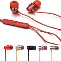 Metal Stereo Headphone With Mic Bass Earphone Sport Headset Hands Free Earbuds u