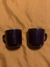 Two Colbolt Blue Cups 8 ounce holds 1 cup