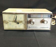 Vintage General Electric C551D Clock Alarm Radio Transistor AM *Excellent Works*