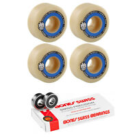 Spitfire Skateboard Wheels F4 Tablets 99A 52mm + Bones Swiss Bearings