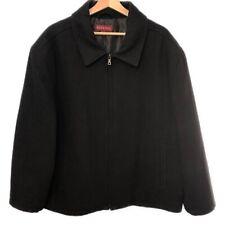 Merona Black Wool Blend Full Zip Collared Coat - Men's Size XL