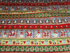Snowman Christmas fabric material Signature Classics Oakhurst Textiles penguins