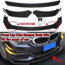 3Pcs Car Front Bumper Lip Splitter Body Side Spoiler Skirt Protector Universal