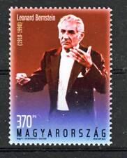 HUNGARY - 2018. Leonard Bernstein - composer was born 100 years ago - MNH