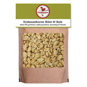 Geröstete & gesalzene Erdnüsse von Eichkater, aromatisch & knackfrisch 500g