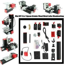 6 in 1 Mini Tornio Jigsaw Grinder Legno Fresatura Foratura Macchina DIY Kit