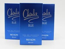 CHARLIE BLUE by Revlon Perfume 3.4 oz edt New in Box (Pack of 3)