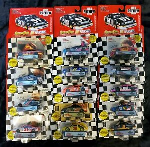 Racing Champions Nascar1995 Preview Edition Lot Of 14 1/64 Scale