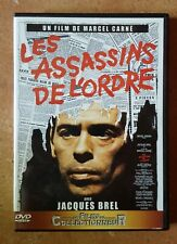 DVD LES ASSASSINS DE L'ORDRE - Jacques BREL / Catherine ROUVEL - Marcel CARNE