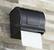 Black Oil Brass Bath Accessory Wall Mount Toilet Paper Roll Holder Box qba302