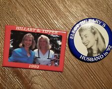 1992 HILLARY CLINTON bill campaign pins pinback button presidential political