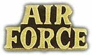 AIR FORCE HAT PIN - AIR FORCE SCRIPT