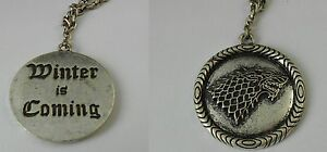 Game Of Thrones Necklace - Jon Snow Robb Stark Cosplay Throne By Spade #2