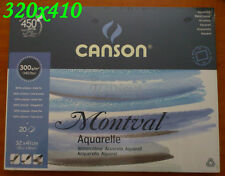Canson Montval Drawing Watercolor Pad, 20 sheets, 320mmx410mm A3 / 2x A4 300gsm