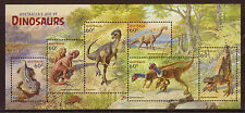 Australia 2013 Dinosaurios Hoja Miniatura MATASELLADO