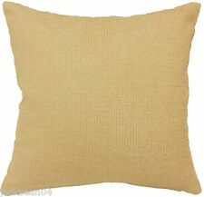 "SUPERB CREAM THICK HEAVYWEIGHT CHENILLE 18"" CUSHION COVER #EREMREDNIW"