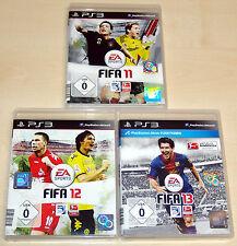 3 PlayStation 3 ps3 colección de juegos-fifa 11 12 13-Fútbol Soccer Football