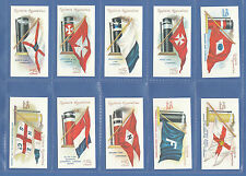 SHIPPING - 20 SETS OF 50 OGDEN'S ' FLAGS & FUNNELS OF STEAMSHIPS '  - REPRINTS