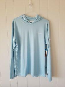 Columbia Rapid Creek long sleeve hoodie shirt omni shade UPF 50 men Sz Large