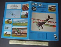 Hungarian Cut-Out Model Book Vintage 1980s era. PO-2 Bi-Plane
