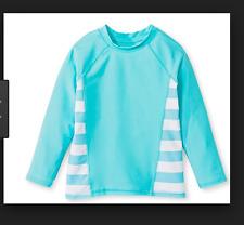 Circo Baby Girls Rash Guard UPF 50+ Size 12 Months Aqua Blue Swim Top NWT