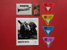 BEASTIE BOYS,Promo Photo,6 Backstage passes,Rare Tour Originals