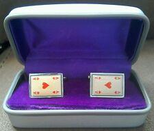 Cufflink Set Ace Of Hearts