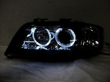 Depo 02-04 Audi A6 C5 White LED Halo Black D2S HID Xenon Projector Headlight