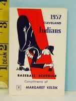 1957 Cleveland Indians Baseball Schedule Margaret Kelsik Councilman GOP #CI12