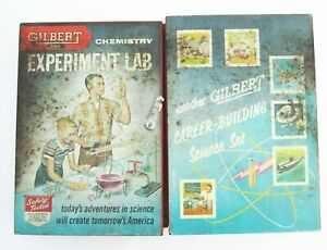 1950s Gilbert Chemistry Experiment Lab Set Vintage Toy Retro 12065 in Metal Case