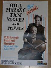 Bill Murray + Jan Vogler - Edinburgh june 2018 tour concert gig poster
