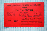 Yale Bowl: Yale vs Brown - 11/1/44 - 11/1/41