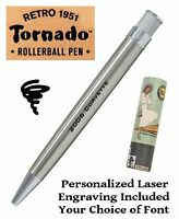 Retro 51 #VRR-1315 / Personalized Stainless Twist Action Tornado Pen