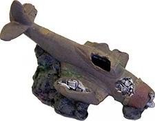 Plane Cave Military Vehicle Fish Tank Ornament Decor Aquarium Underwater Hideout
