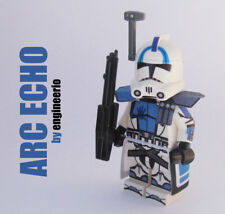 Custom Clone Trooper ARC Echo Star Wars minifigures rex captain lego bricks