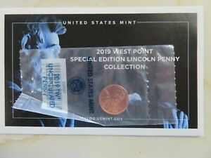 2019 W West Point Uncirculated Lincoln Cent Penny  Sealed with Envelope