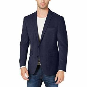 MSRP $295 Kenneth Cole REACTION Ultra Suede Slim Fit Blazer Navy 40R Camo Liner