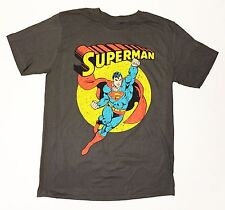 Licensed Classic Superman - Men's 2X-Large Grey T-Shirt  Graphic Tee  2XL