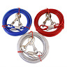 Dog Leash 10/16/32ft Twin Strong Pet Tie-Out Cable Leash Steel Wire Chain Leads