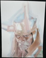 Loki Portrait Painted Art Commission - 2015 Signed art by Esad Ribic