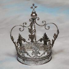 Large Decorative Antique Silver Iron Crown - 30 x 20 x 20 cm - NEW!
