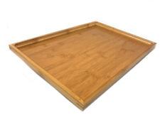 Vassoio legno di bamboo rettangolare bordo alto x alimenti colazione 41x29x2,5cm