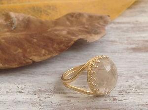 November Birthstone Ring NATURAL CITRINE Jewelry 14K Gold Filled Ring SZ 6 7 8