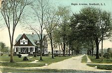 A View of the Homes on Maple Street, Southold L.I. NY 1910